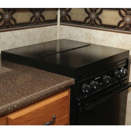 Black Universal Stove Top Cover Camco 43554 Counter