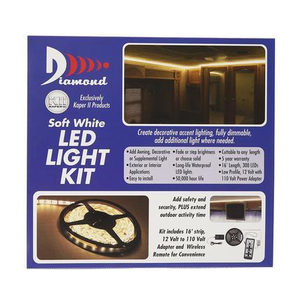 warm white led strip light kit diamond 52686 patio lights