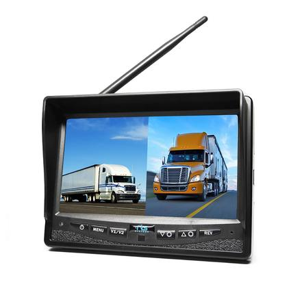 wireless backup camera system dual screen monitor with