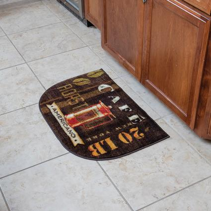 """Kitchen Slice Rugs 18"""" x 30"""" Coffee Station Mohawk Factoring 12"""
