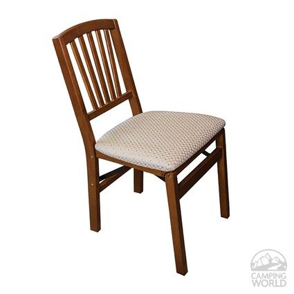 Upholstered Folding Wood Chair Contemporary Fruitwood