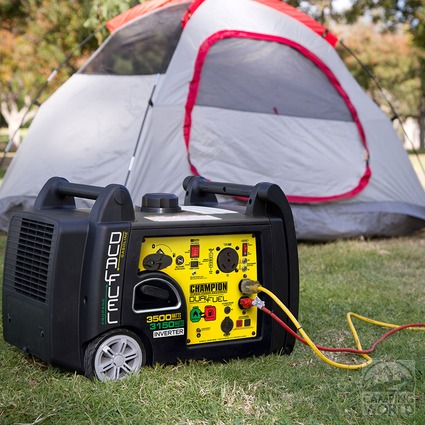 Champion 3500 Watt RV Ready Dual Fuel Portable Inverter Generator