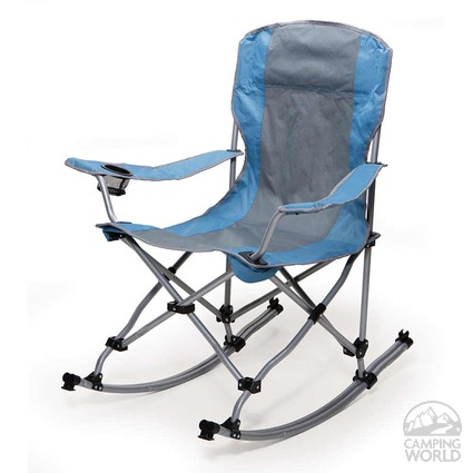 rocking bag chair blue and gray mac sports rnr145 folding chairs camping world