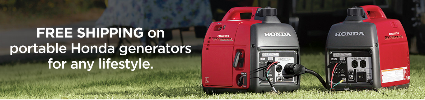 Free Shipping on portable Honda generators