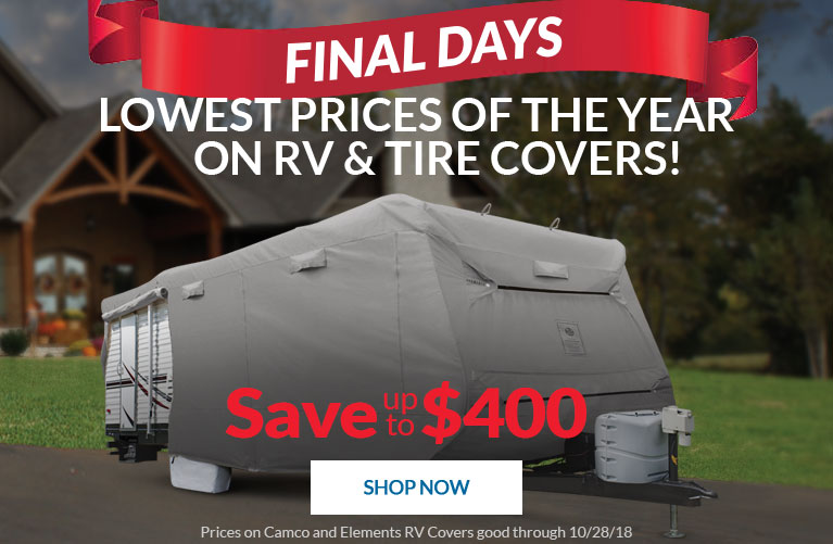 Final Days for the Lowest Prices of the Year on RV Covers and Tire Covers