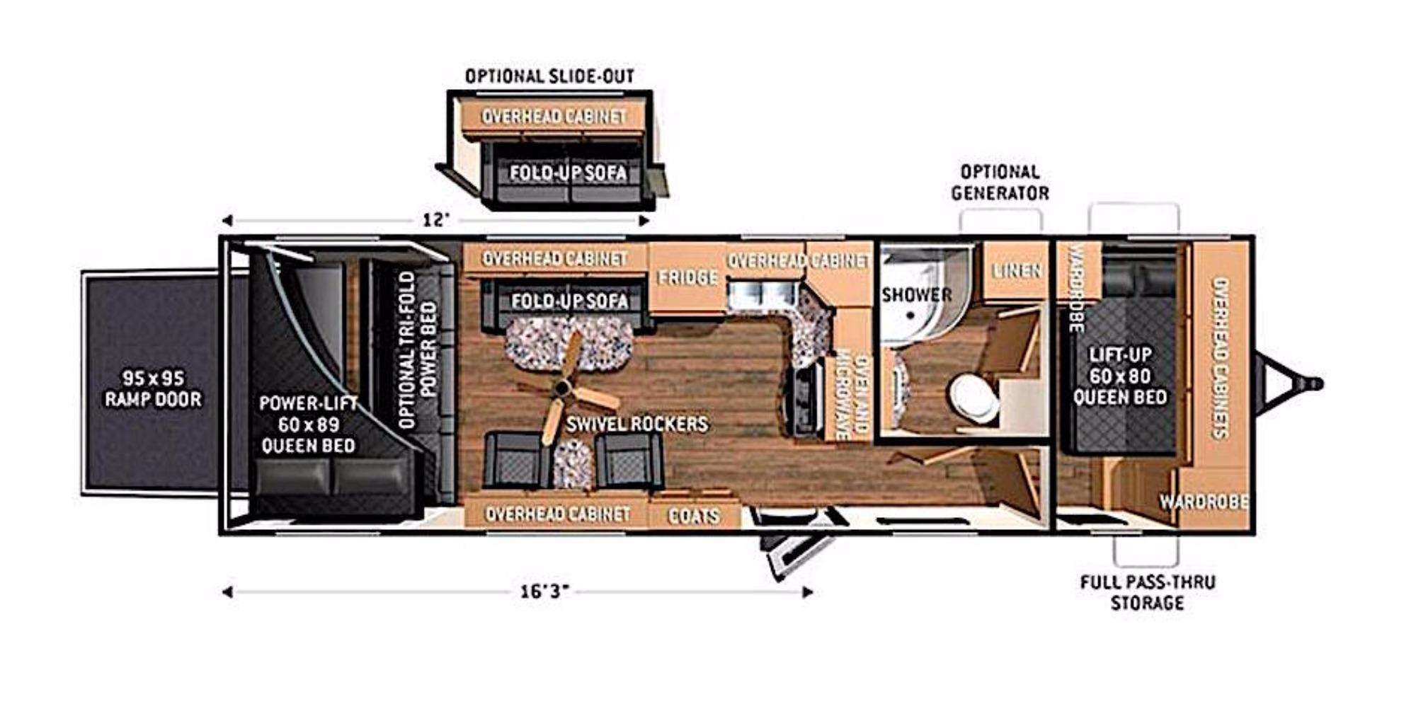 2016 Cruiser Rv Stryker 2812 1223569 on Pioneer Floor Plan