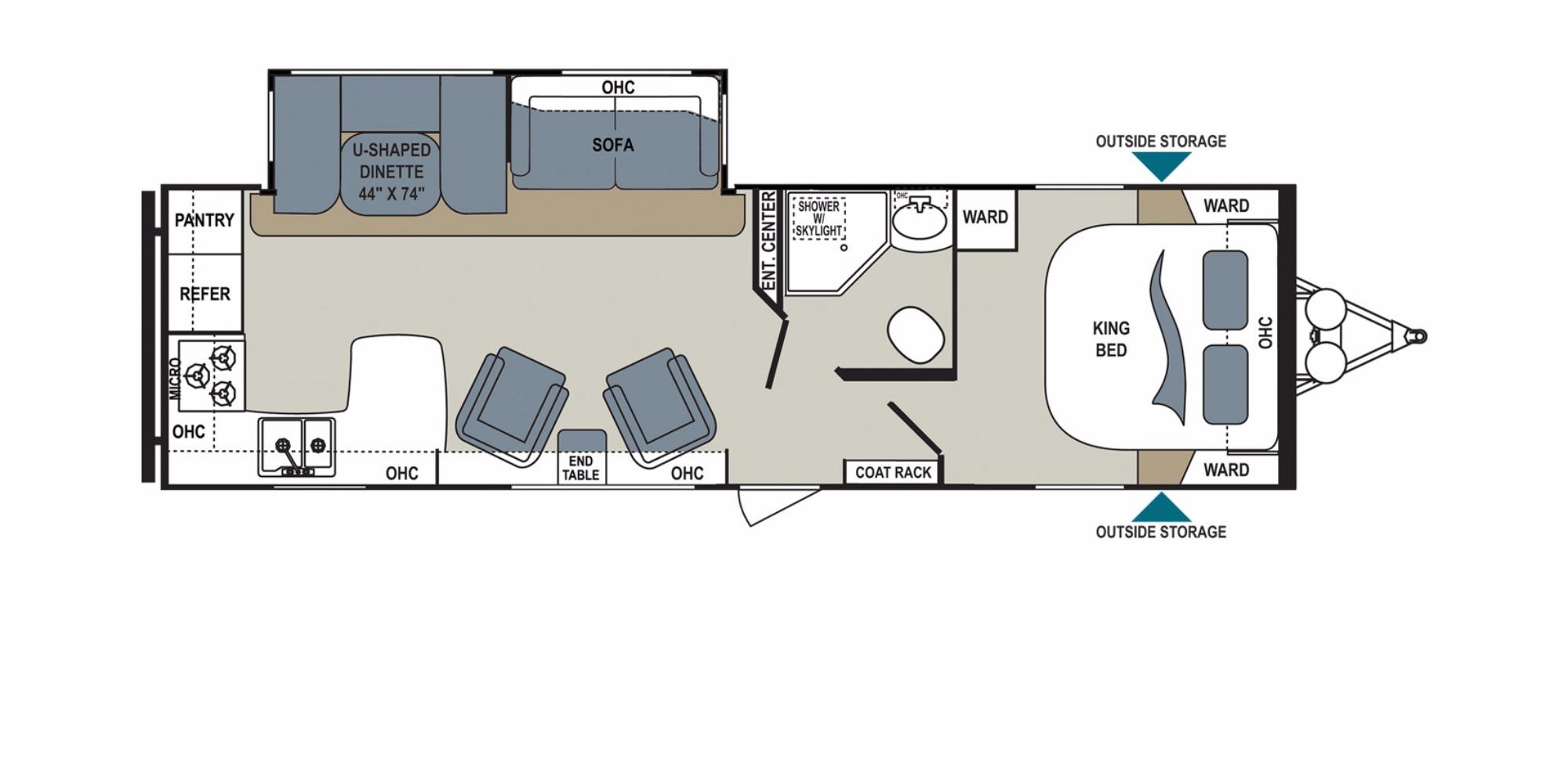 View Floor Plan for 2017 DUTCHMEN AEROLITE 294RKSS