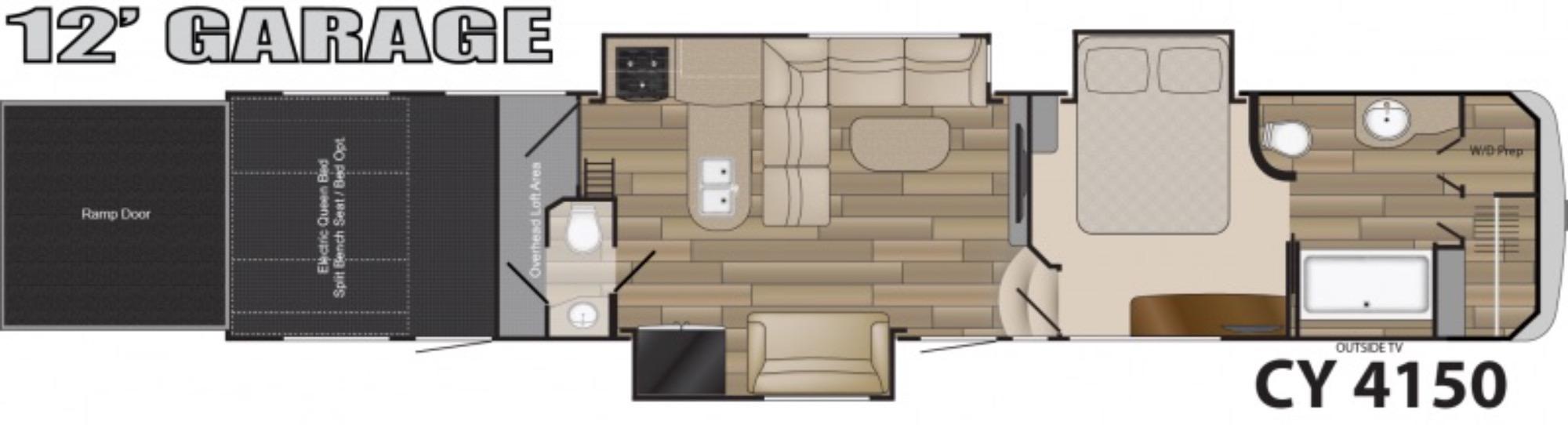 View Floor Plan for 2017 HEARTLAND CYCLONE 4150