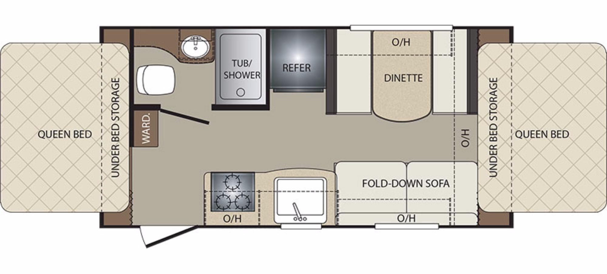 Keystone Bullet Rv Floor Plans: 2017 Keystone Bullet Crossfire 1650ex