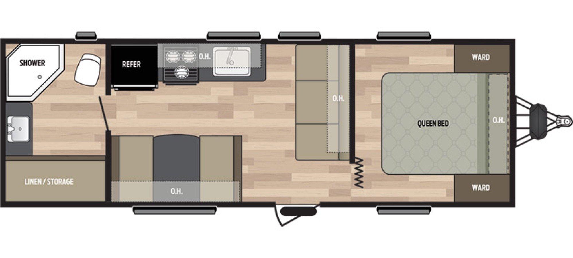 View Floor Plan for 2017 KEYSTONE SUMMERLAND 2450RB