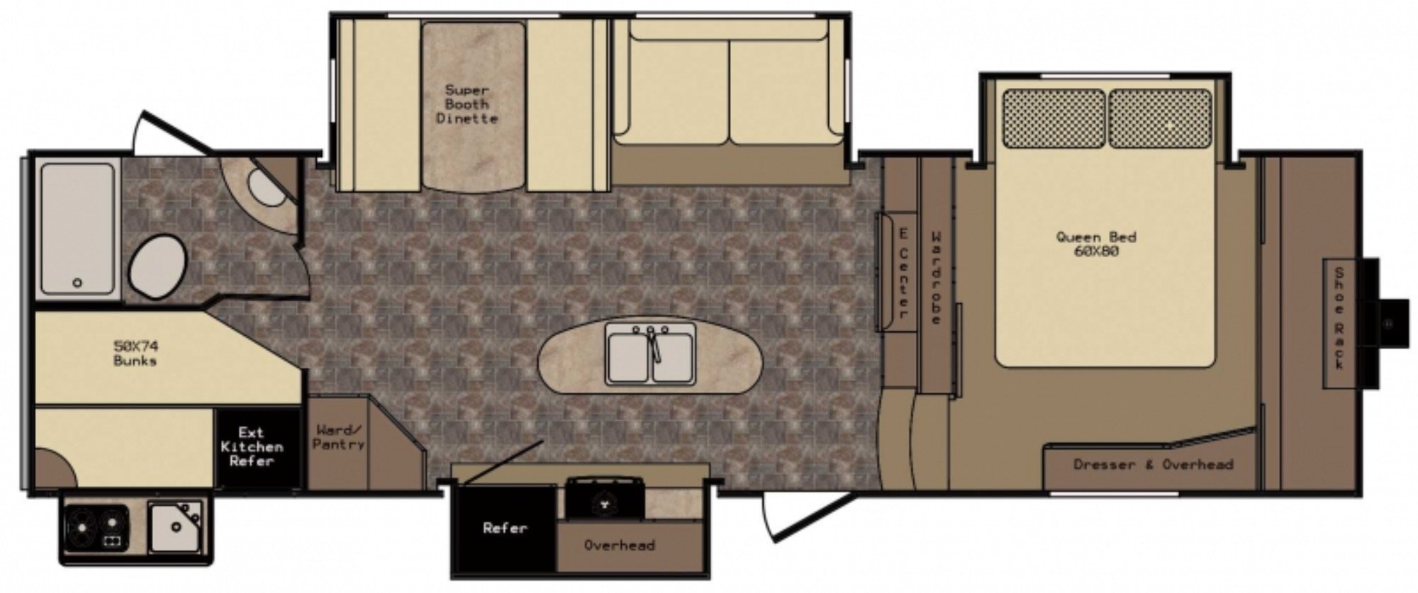 View Floor Plan for 2017 CROSSROADS SUNSET TRAIL SF29BH