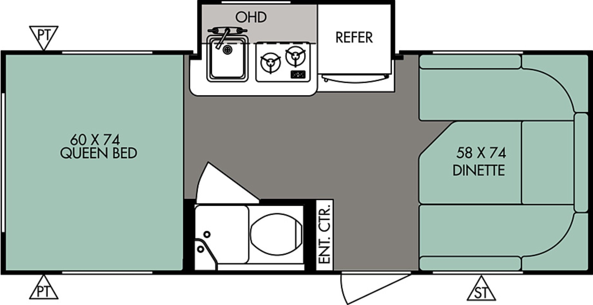 View Floor Plan for 2017 FOREST RIVER R-POD 178