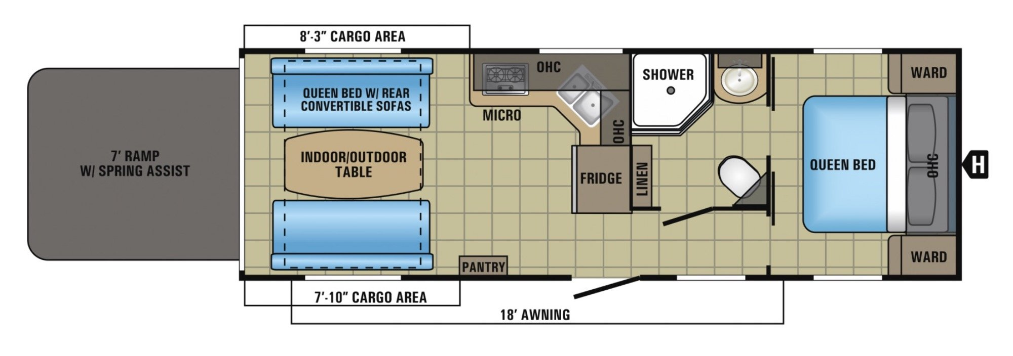View Floor Plan for 2017 JAYCO OCTANE SUPER LITE 273