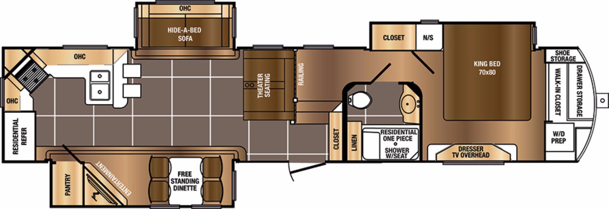 View Floor Plan for 2017 PRIME TIME SANIBEL 3701