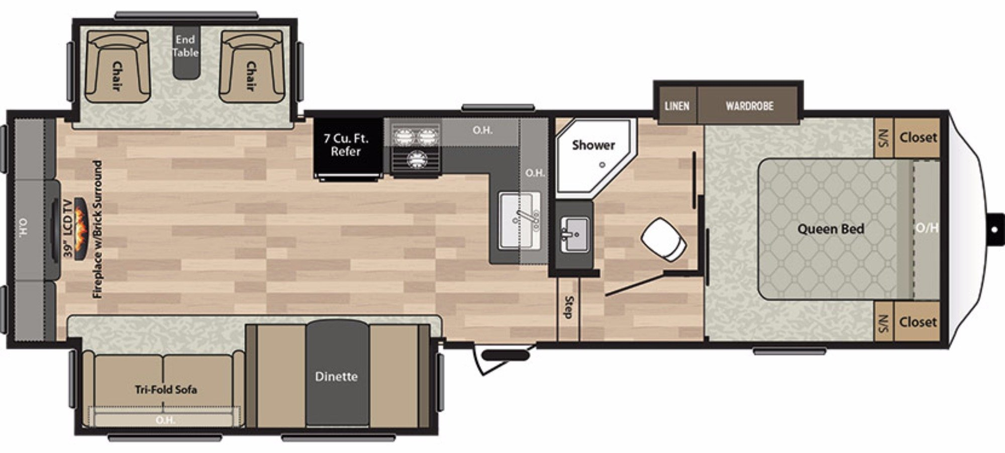 View Floor Plan for 2017 KEYSTONE SPRINGDALE 253FWRE