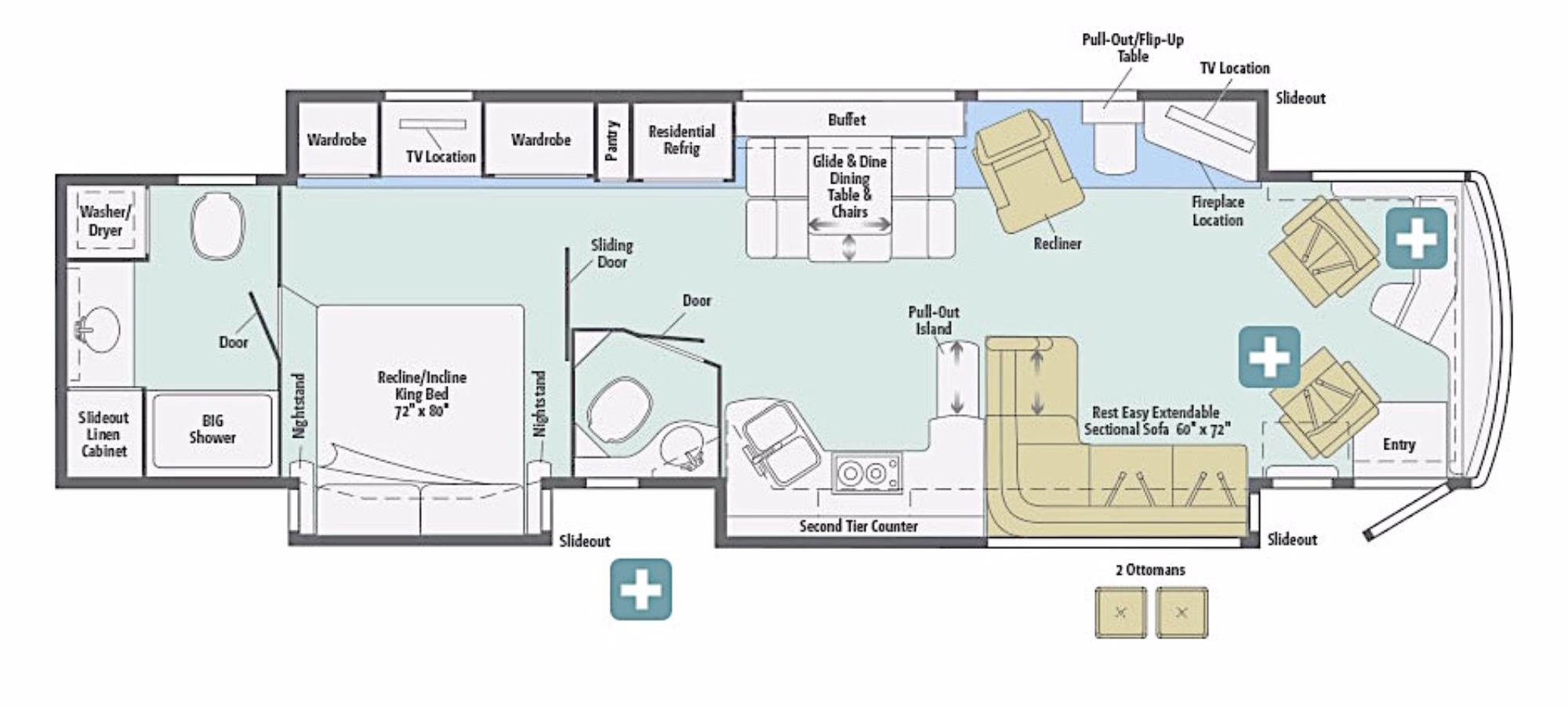 100 Luxury Rv Floor Plans 5th Wheel Bunkhouse