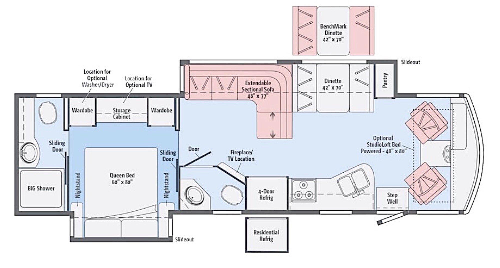 View Floor Plan for 2017 WINNEBAGO VISTA LX 35F