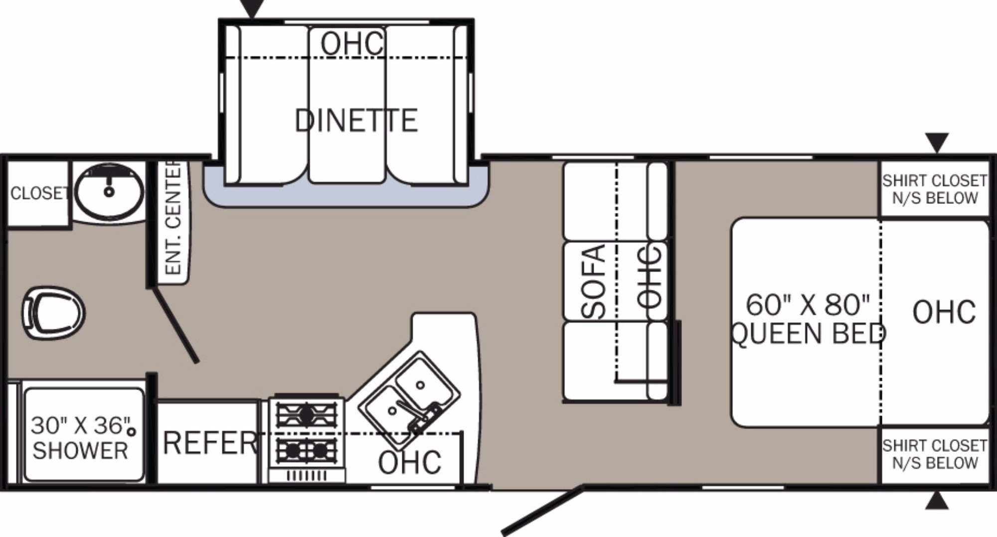 View Floor Plan for 2017 FOREST RIVER PUMA 24FBS