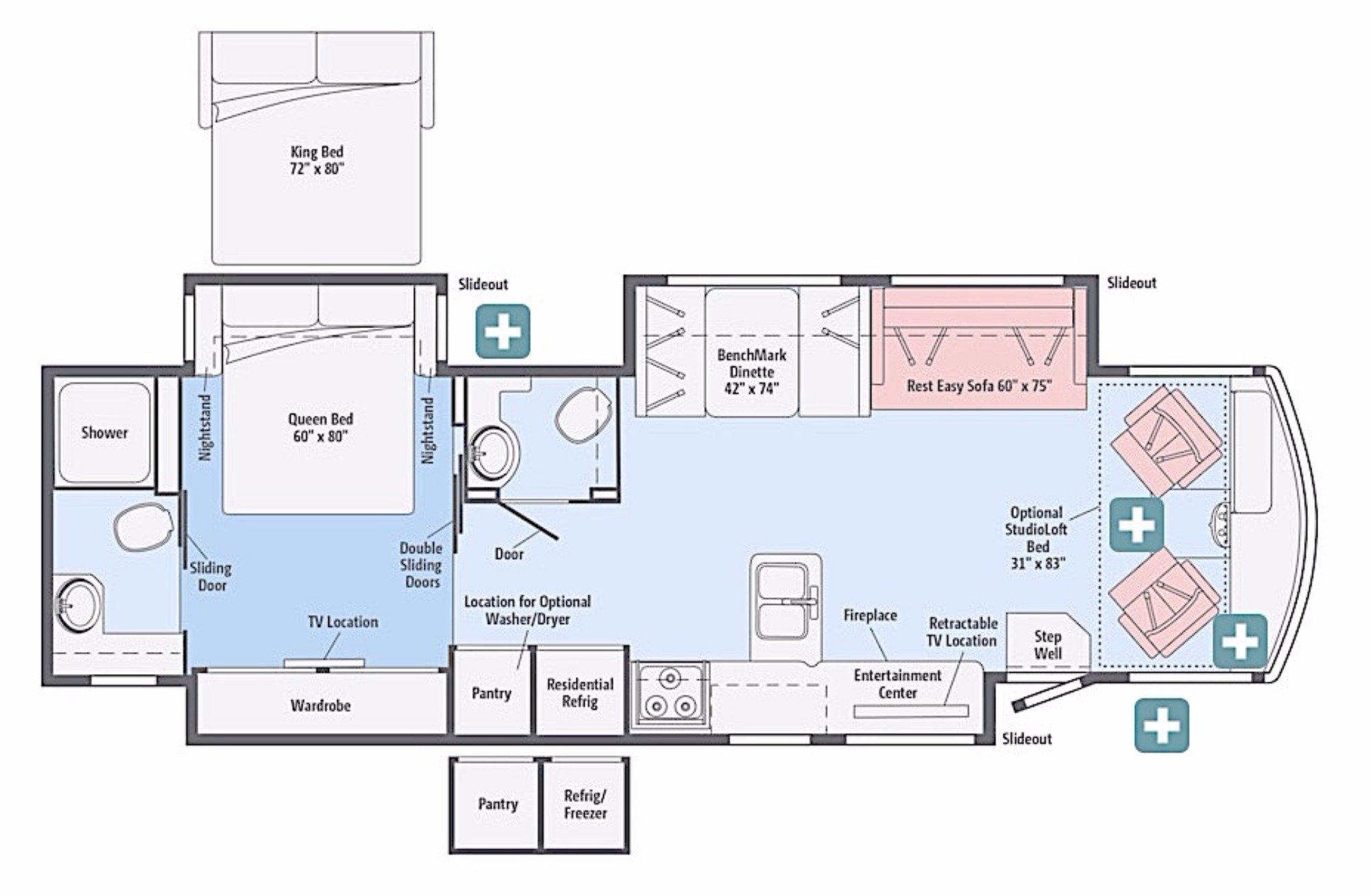 View Floor Plan for 2017 WINNEBAGO SIGHTSEER 36Z