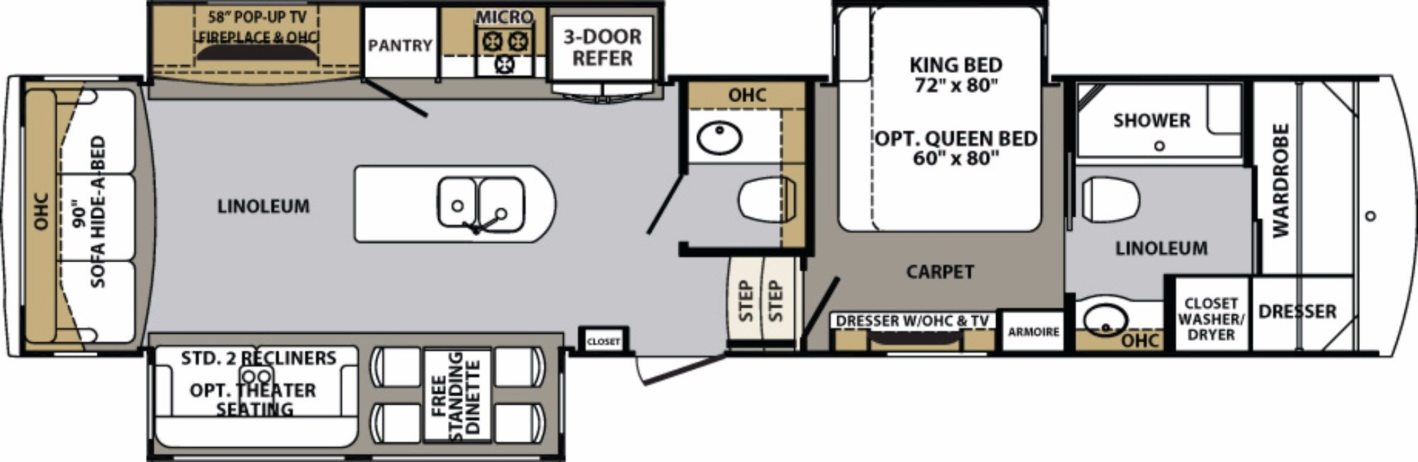 Forest River Cardinal RVs For Sale Camping World RV Sales - Forest river 5th wheel floor plans