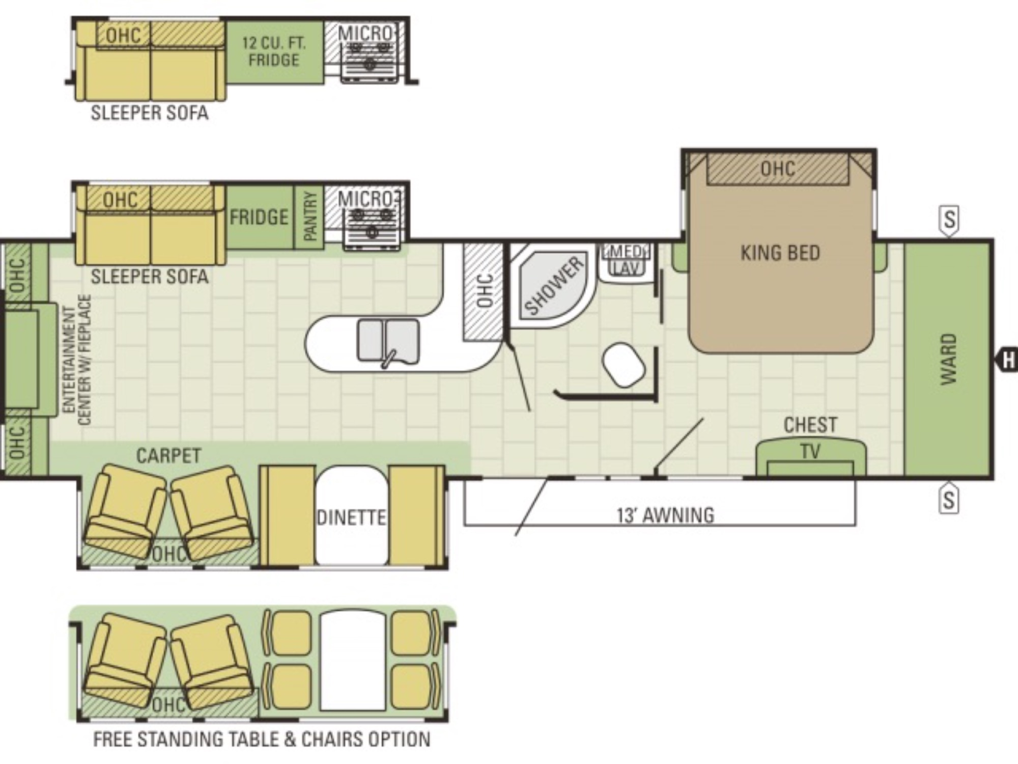 View Floor Plan for 2017 STARCRAFT TRAVEL STAR 314RESA
