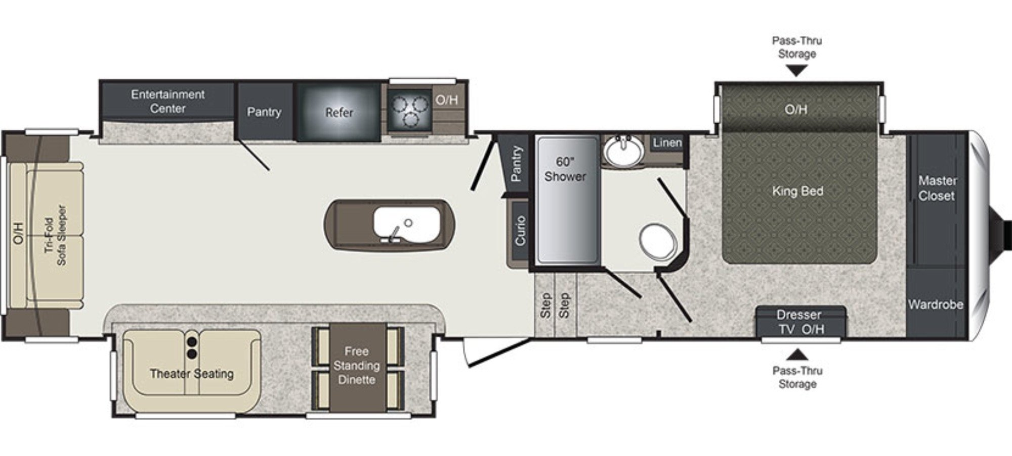 View Floor Plan for 2017 KEYSTONE LAREDO 355RL