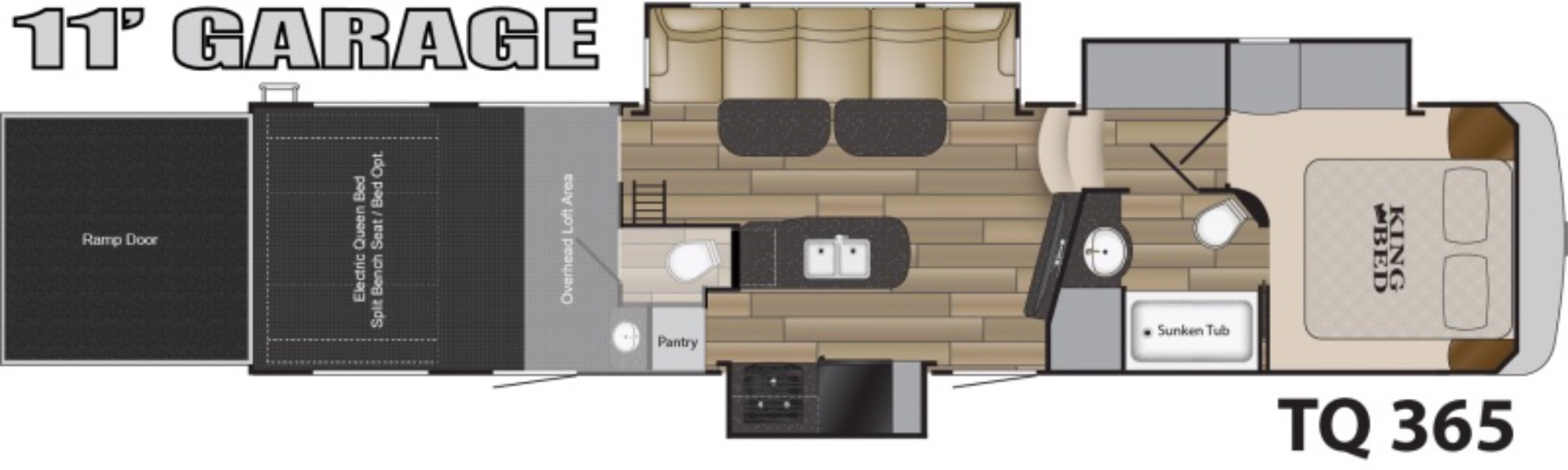 View Floor Plan for 2017 HEARTLAND TORQUE 365