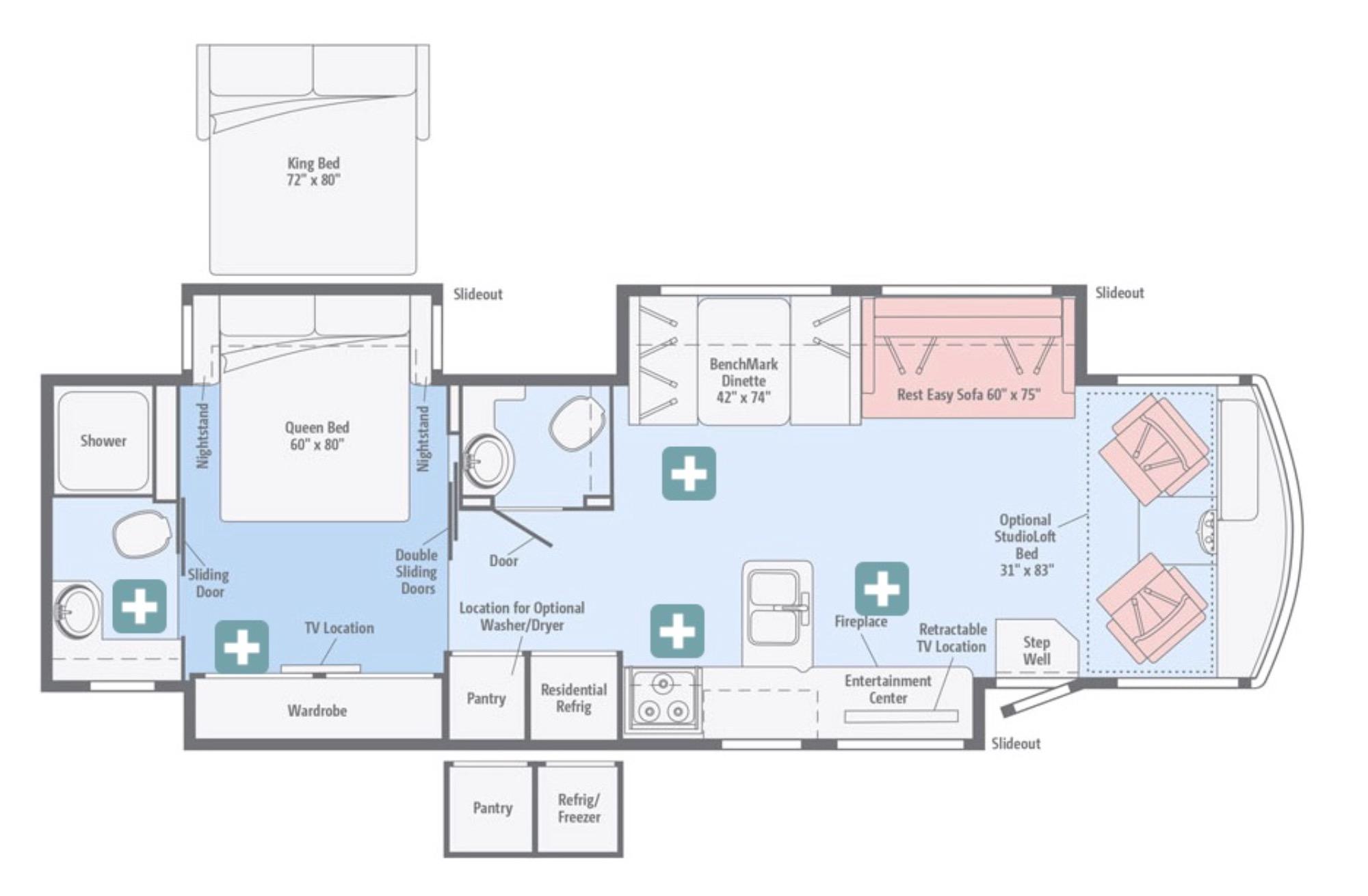 View Floor Plan for 2017 WINNEBAGO SUNOVA 36Z