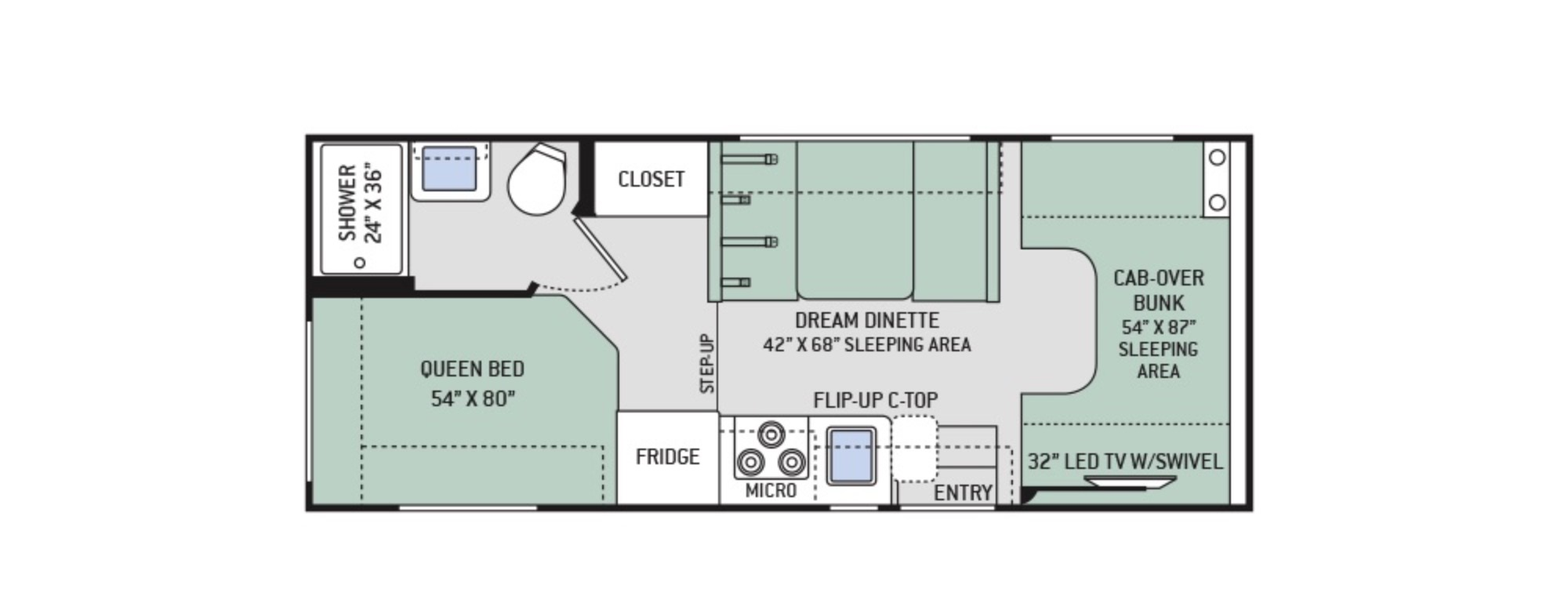 Four winds rv floor plans gurus floor for Motorhome plans
