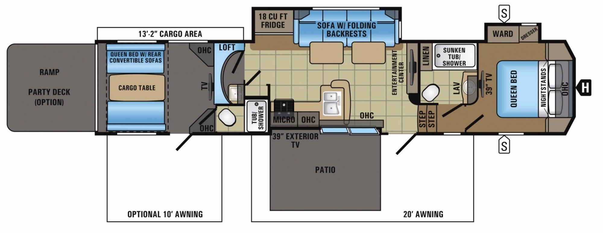 View Floor Plan for 2017 JAYCO SEISMIC 4213