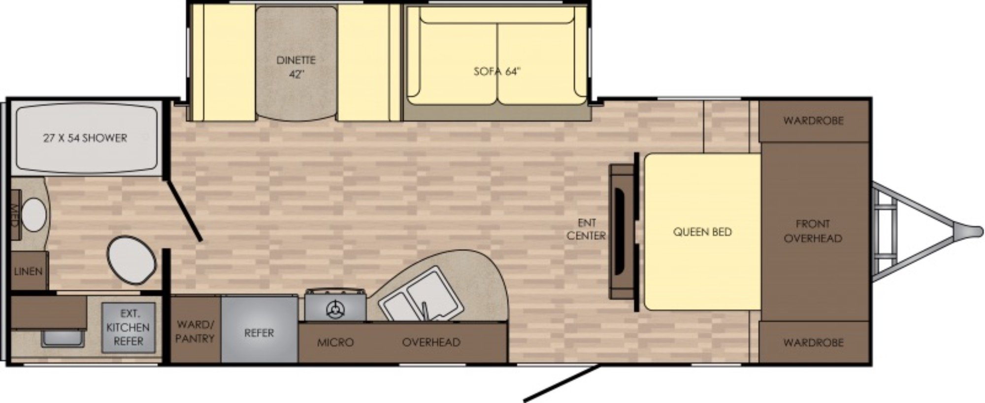 View Floor Plan for 2017 CROSSROADS SUNSET TRAIL 254RB