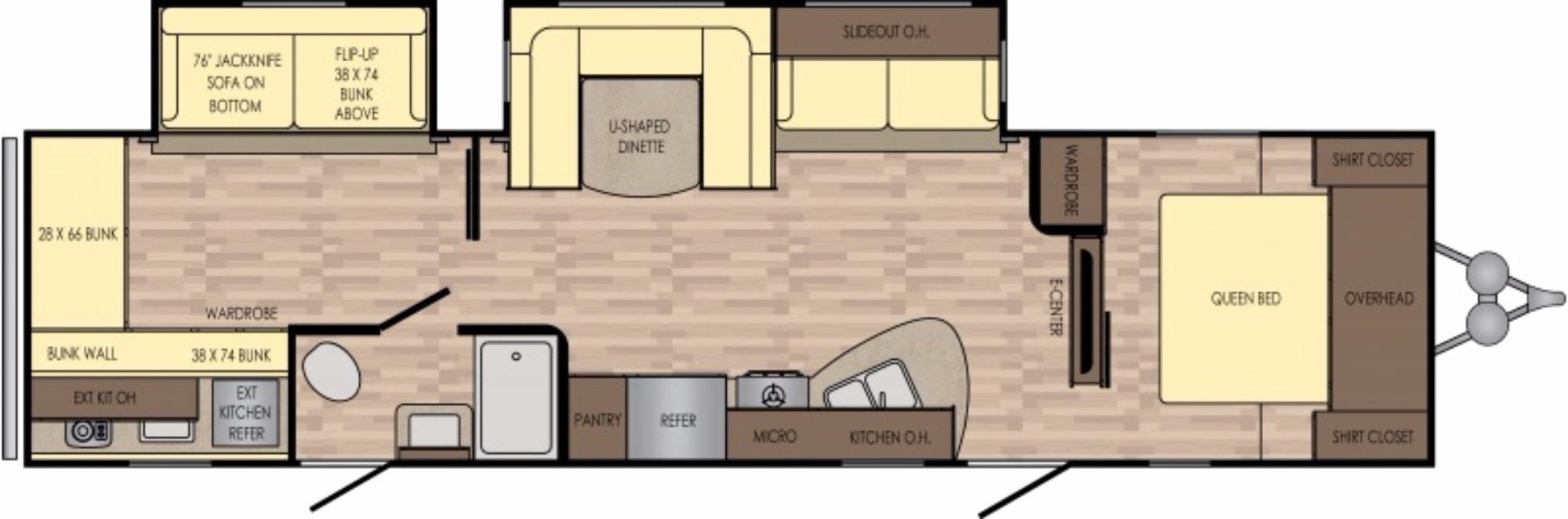 View Floor Plan for 2017 CROSSROADS VOLANTE 33SB