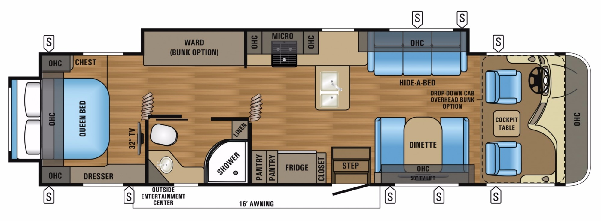 View Floor Plan for 2017 JAYCO PRECEPT 35UP