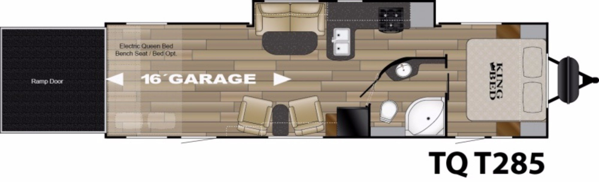 View Floor Plan for 2017 HEARTLAND TORQUE T285