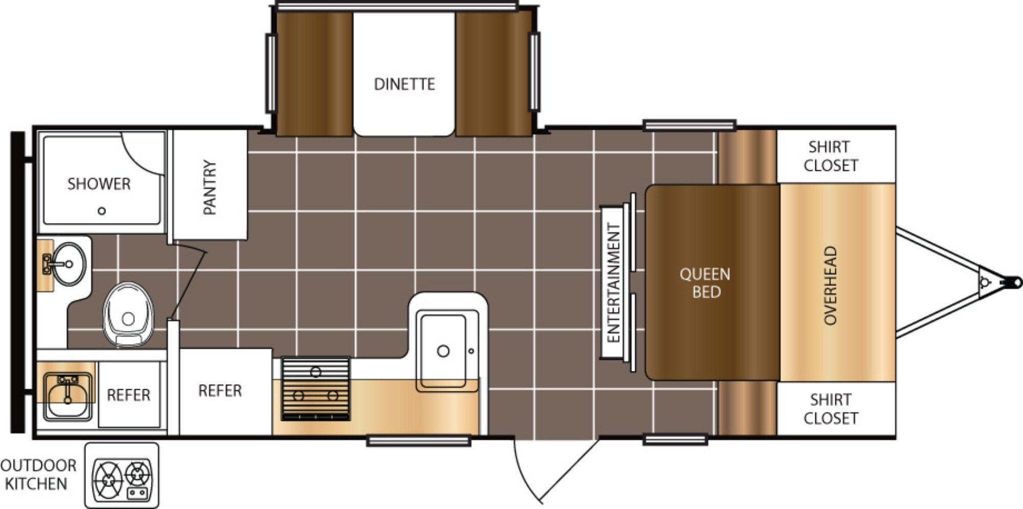 View Floor Plan for 2017 PRIME TIME TRACER AIR 231AIR