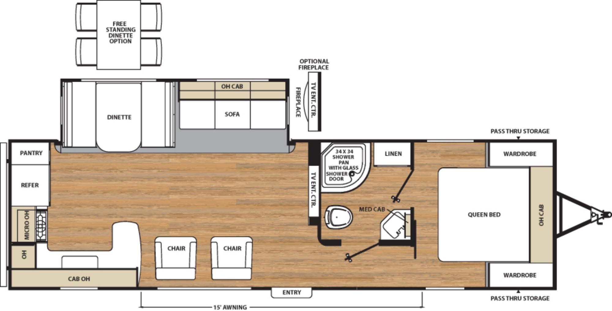 View Floor Plan for 2017 COACHMEN CATALINA 283RKS