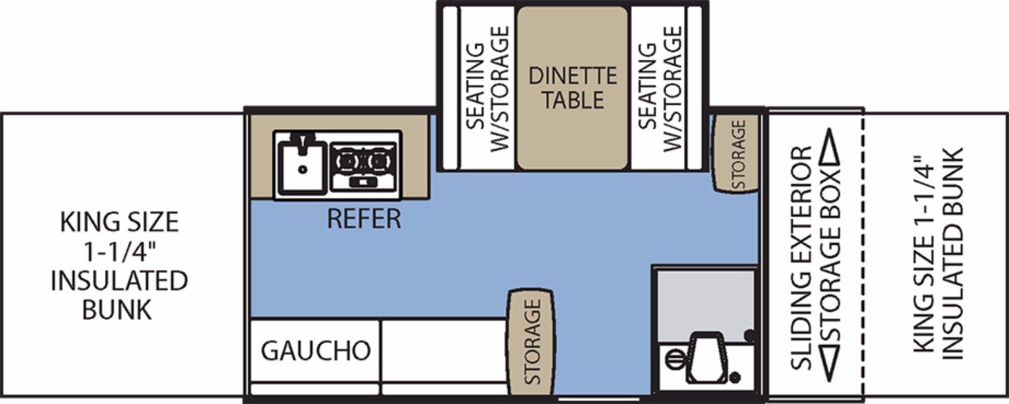 View Floor Plan for 2017 COACHMEN CLIPPER 1285SST