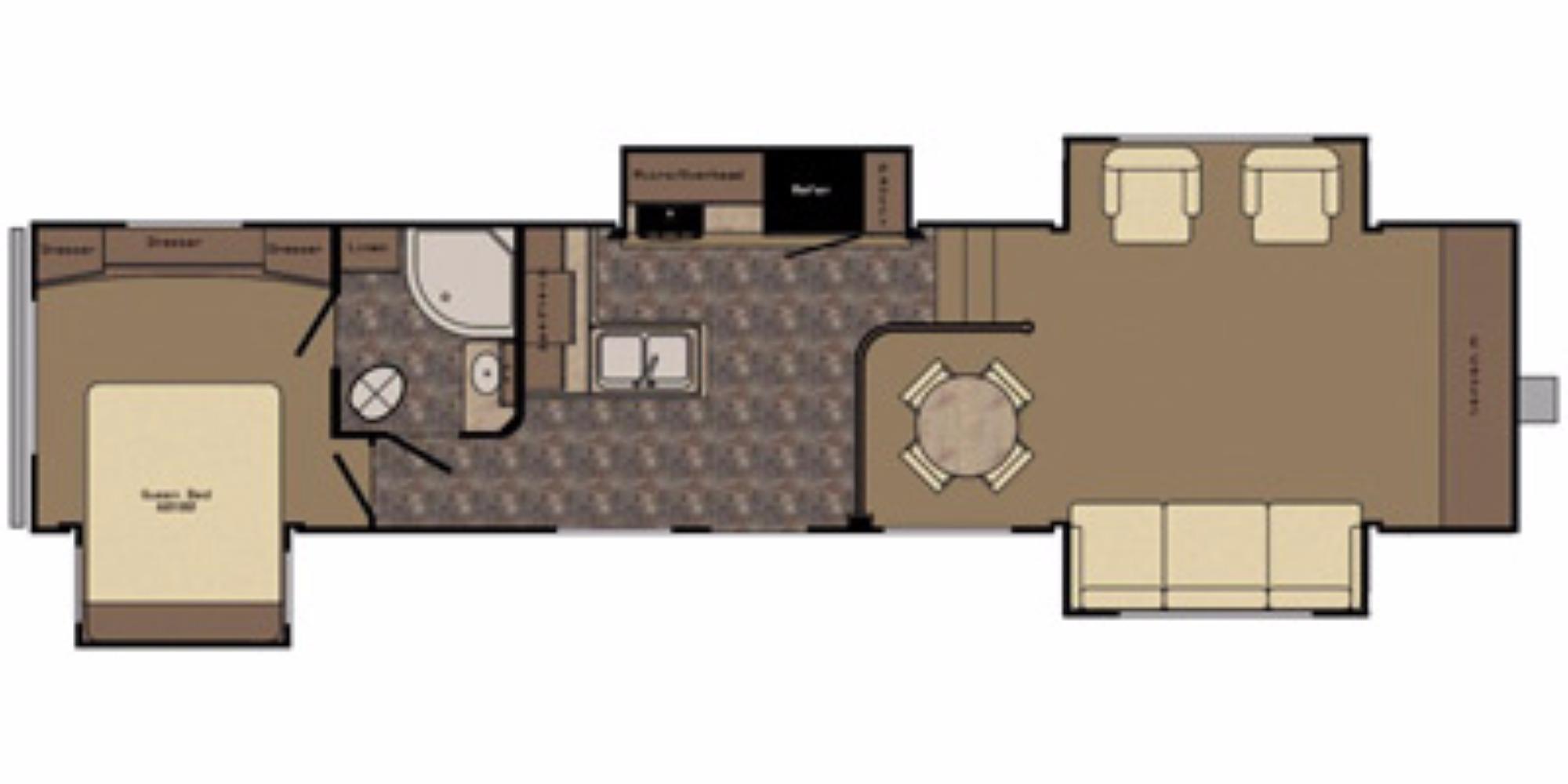 View Floor Plan for 2015 CROSSROADS CRUISER 362FL