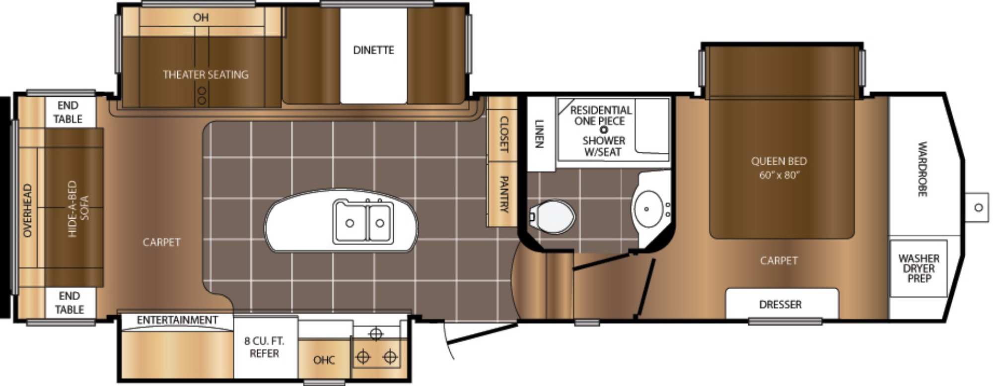 View Floor Plan for 2018 PRIME TIME CRUSADER 315RST