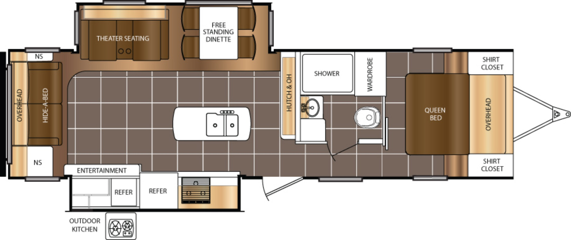 View Floor Plan for 2018 PRIME TIME TRACER 3175RSD