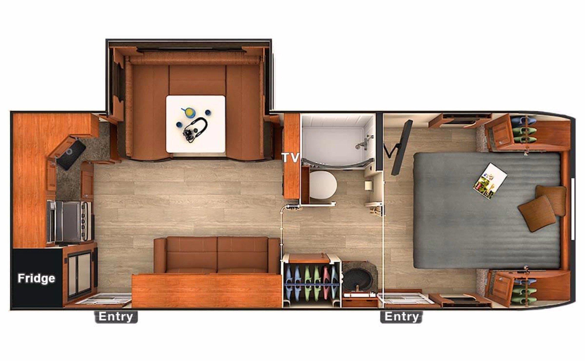 View Floor Plan for 2018 LANCE LANCE 2285