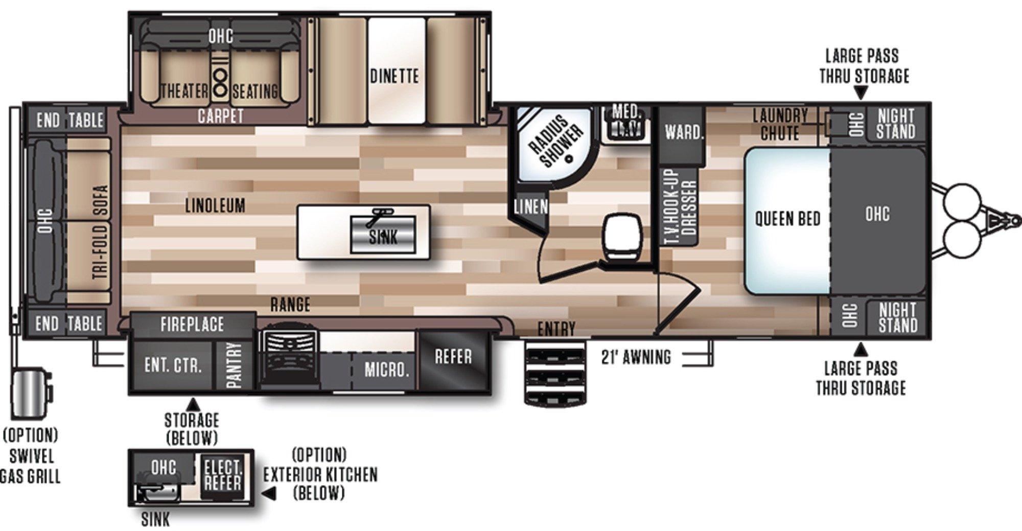 View Floor Plan for 2018 FOREST RIVER SALEM HEMISPHERE 272RL