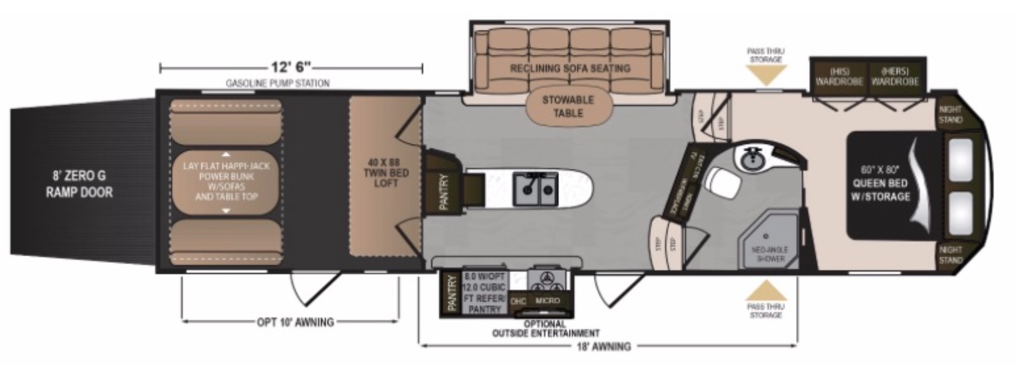Small 5th Wheel Toy Hauler Floor Plans Carpet Vidalondon