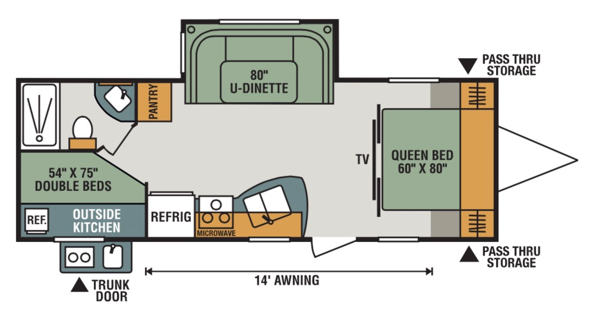 View Floor Plan for 2018 K-Z RV CONNECT 241BHK