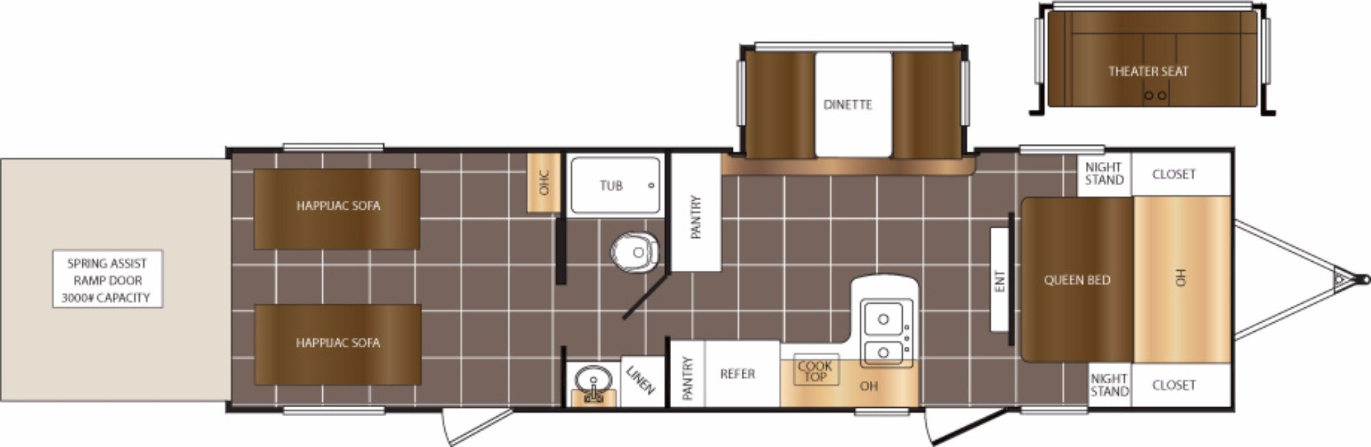 View Floor Plan for 2018 PRIME TIME FURY 2910