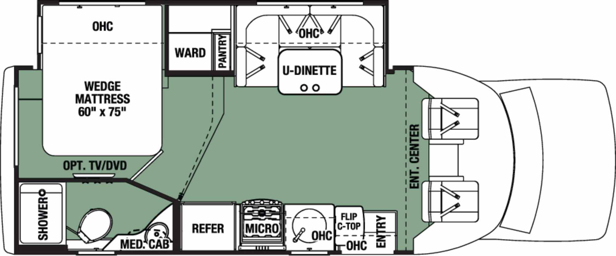 View Floor Plan for 2018 FOREST RIVER FORESTER 2431SF