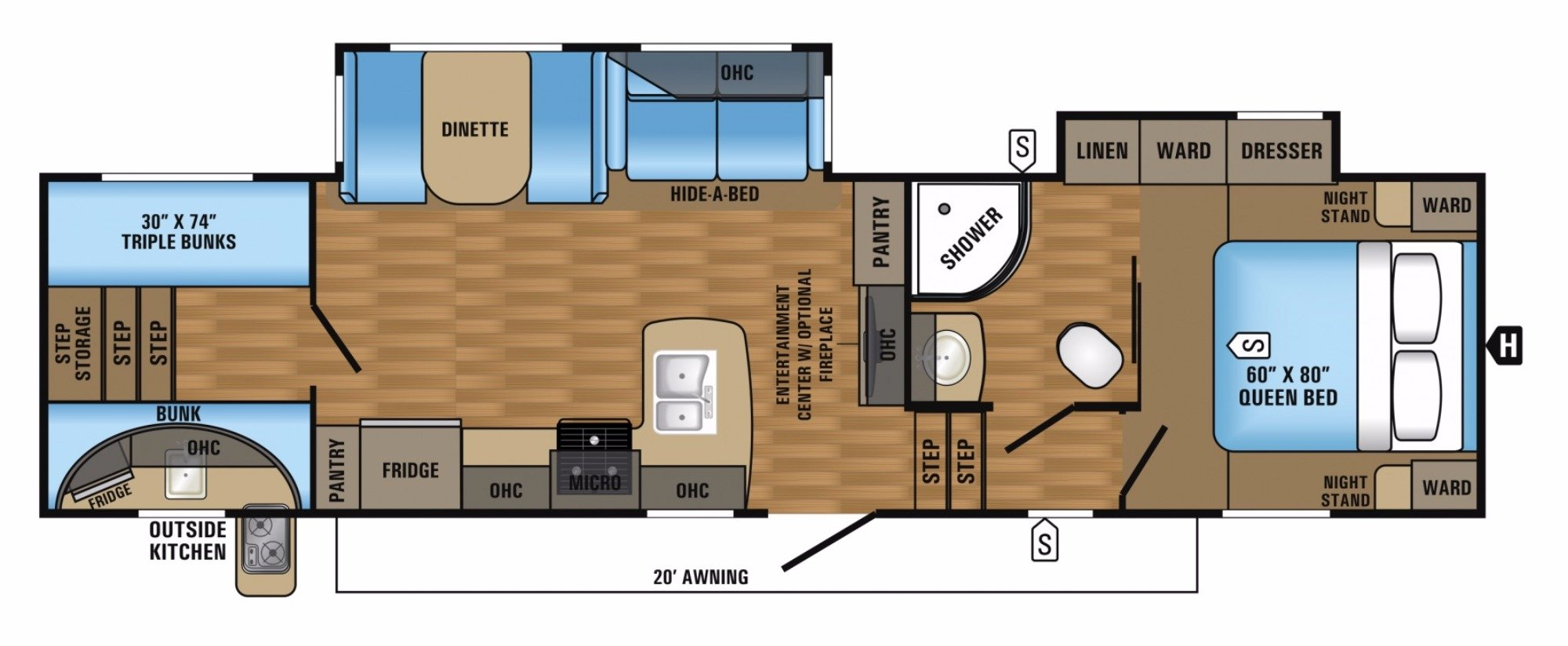 Bedroom : 2018-JAYCO-29.5BHOK