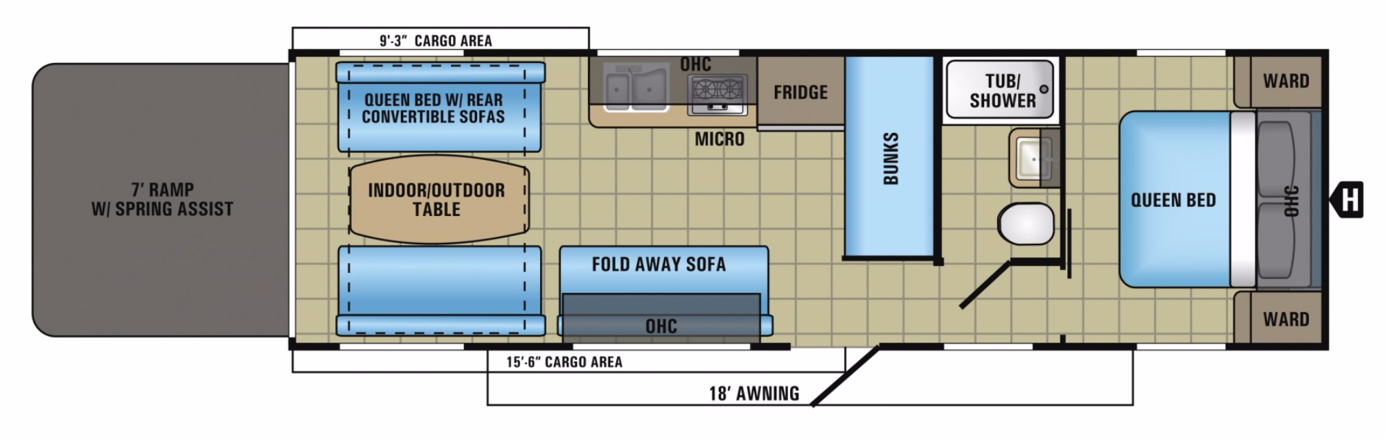 View Floor Plan for 2018 JAYCO OCTANE SUPER LITE 272