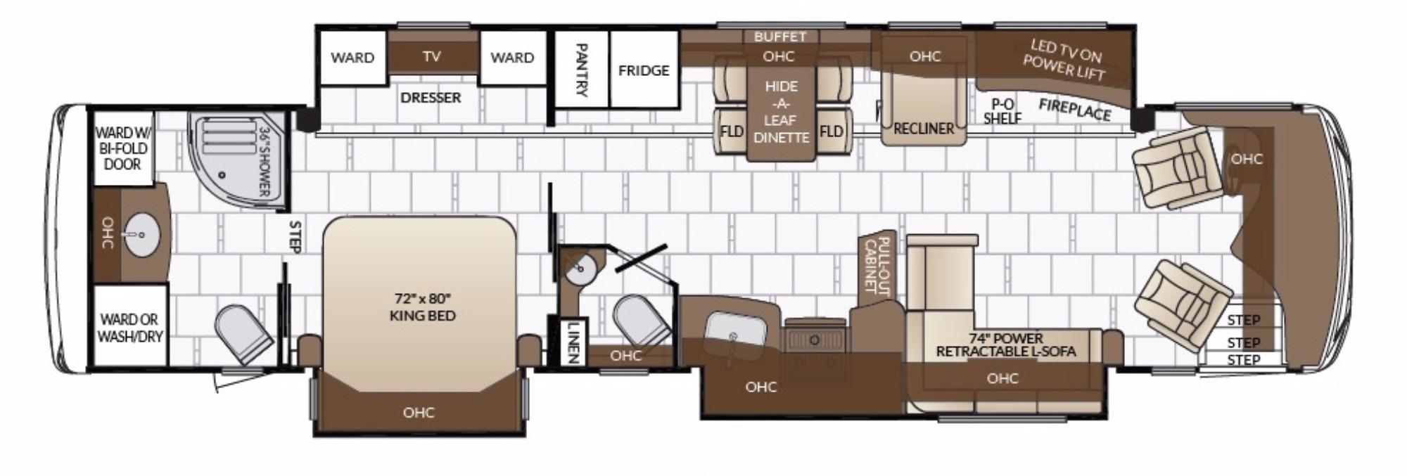 View Floor Plan for 2017 NEWMAR DUTCH STAR 4018