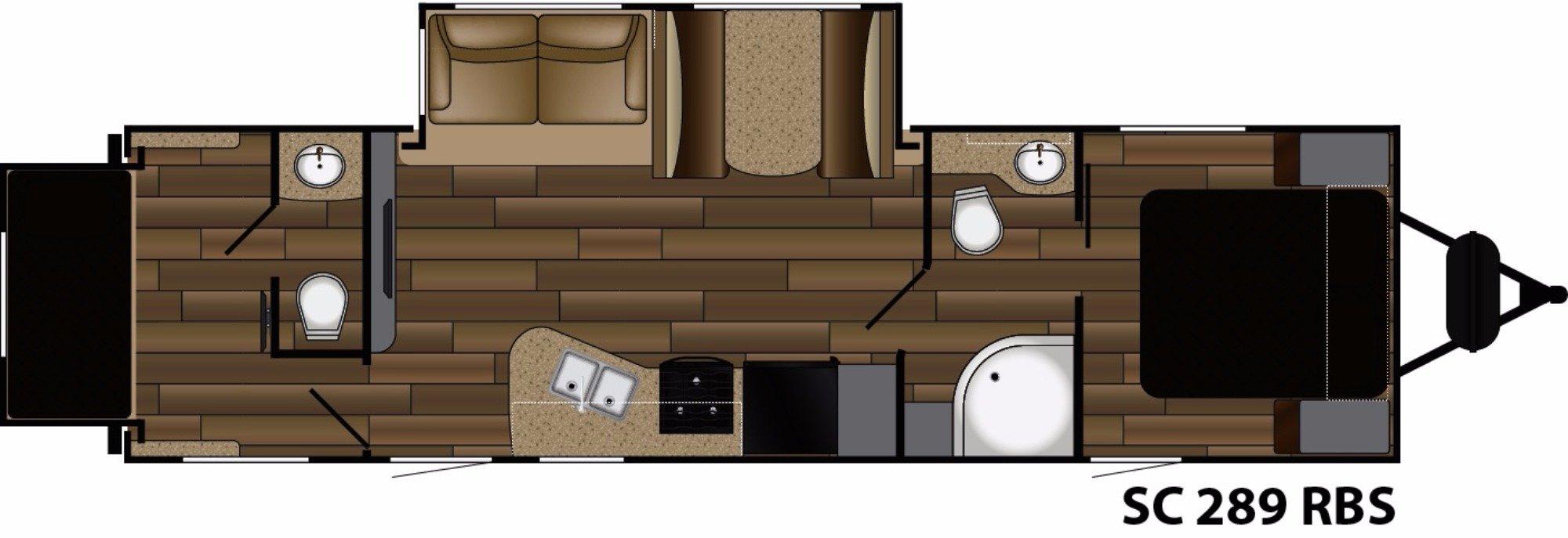 View Floor Plan for 2018 CRUISER RV SHADOW CRUISER 289RBS